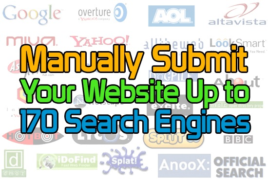 SEO Manually Submit your Website to up to 170 Search Engines